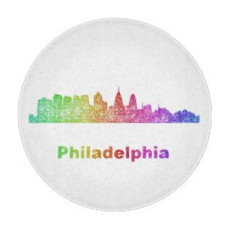 Regenbogen-Philadelphia-Skyline Schneidebrett