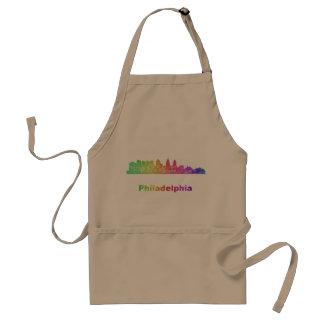 Regenbogen-Philadelphia-Skyline Schürze