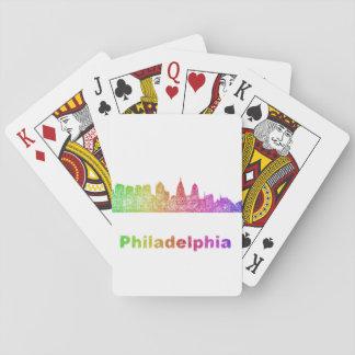 Regenbogen-Philadelphia-Skyline Spielkarten