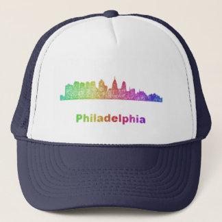 Regenbogen-Philadelphia-Skyline Truckerkappe