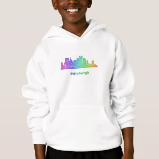 Regenbogen-Pittsburgh-Skyline Hoodie