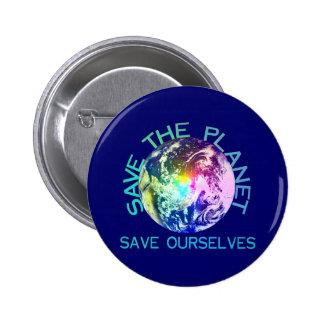 Regenbogen-Planet Runder Button 5,7 Cm