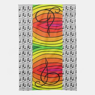 Regenbogen-Pop-Kunst-Designer-musikalischer Küchenhandtuch