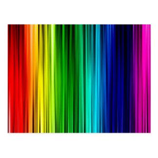 Regenbogen-Postkarte, leere Rückseite Postkarte