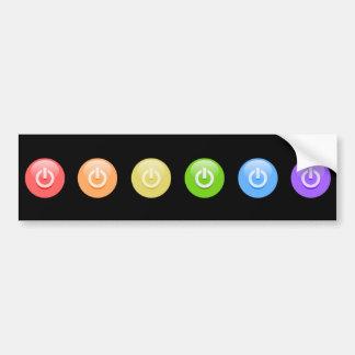 Regenbogen-PowerGamer Autoaufkleber