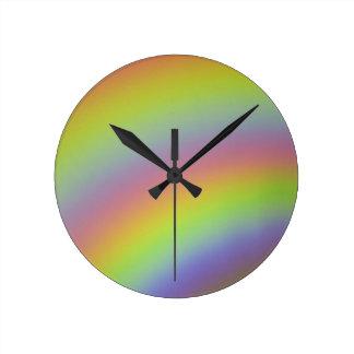 Regenbogen-Produkt Runde Wanduhr