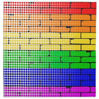 Regenbogen-Punktematrix Serviette