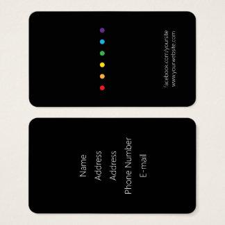 Regenbogen punktiert LGBT Stolz Visitenkarte