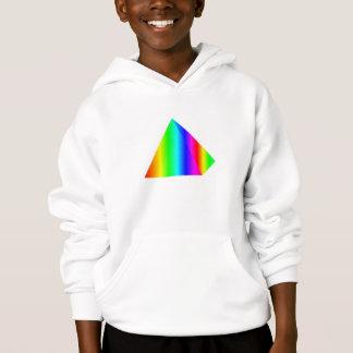 Regenbogen-Pyramide Hoodie