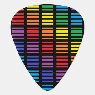 Regenbogen-Quadrat-und Streifen-Schwarzes Plektrum