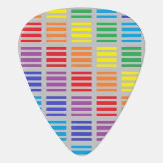 Regenbogen-Quadrat-und Streifen-Silber Plektrum