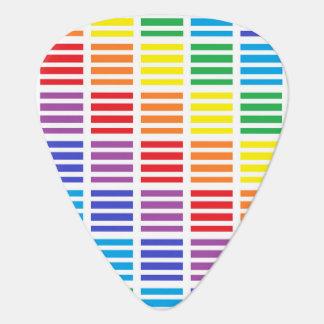 Regenbogen-Quadrate und Streifen Plektron