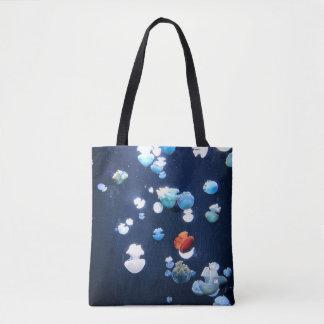 Regenbogen-Qualle-Monogramm-Taschen-Tasche Tasche