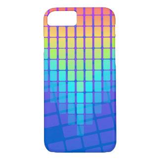 Regenbogen-Rechteck-Muster iPhone 8/7 Hülle