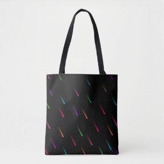 Regenbogen-Regen-Tropfen (dunkel) Tasche