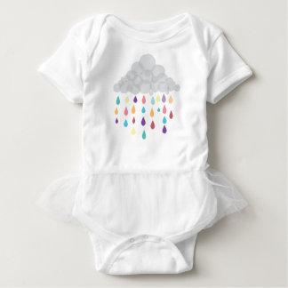 Regenbogen-Regentropfen-KinderTutu Baby Strampler