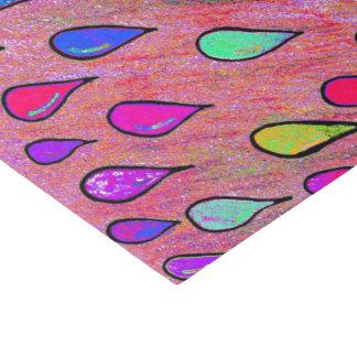Regenbogen-Regentropfen Seidenpapier