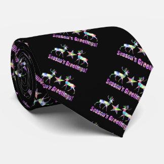 Regenbogen-Ren-niedliches Weihnachten Personalisierte Krawatten