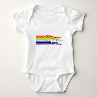 Regenbogen-Rennläufer Baby Strampler