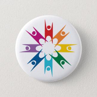 Regenbogen-Ring der Humanisten Runder Button 5,7 Cm