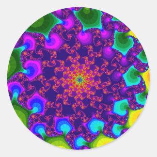 Regenbogen-Ringelblumen-große runde Aufkleber