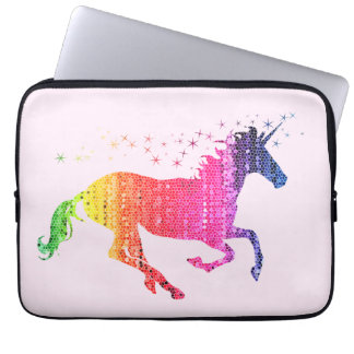 Regenbogen-Rosa-Einhorn Laptop Sleeve