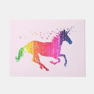 Regenbogen-Rosa-Einhorn Türmatte