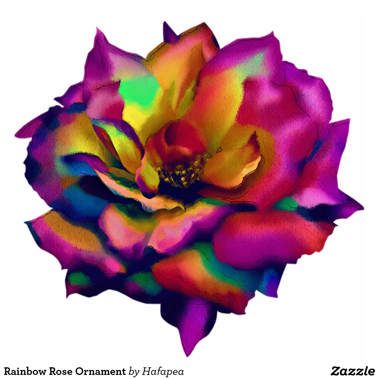 regenbogen rosen verzierung fotoskulptur ornament zazzle. Black Bedroom Furniture Sets. Home Design Ideas
