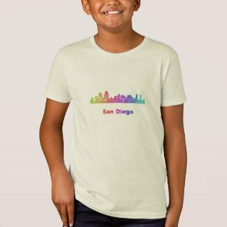 Regenbogen-San Diego Skyline T-Shirt