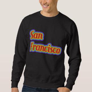 Regenbogen San Francisco - auf Weiß Sweatshirt