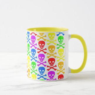 """Regenbogen-Schädel-"" Kaffee-Tasse Tasse"