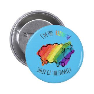 Regenbogen-Schaf-Button Runder Button 5,1 Cm