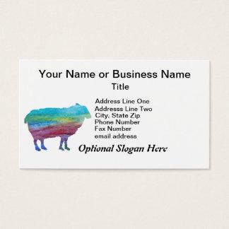 Regenbogen-Schafe Visitenkarte