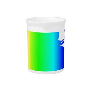 Regenbogen-Schale, Saucer, Löffel Getränke Pitcher