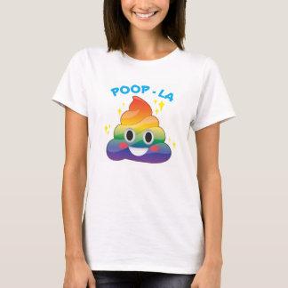 Regenbogen-Schein kacken Emoji Gekackte-LA Shirt
