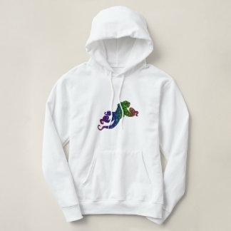 Regenbogen-Schein-Kraken-Kunst Hoodie