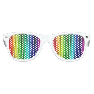 Regenbogen scherzt die Party-Schatten, weiß Kinder Sonnenbrillen