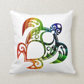 Regenbogen-Schildkröte-Kissen Kissen