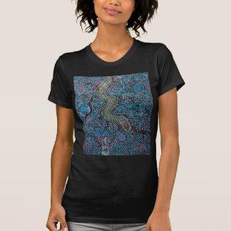 Regenbogen-Schlangen-Blau T-Shirt