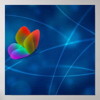 Regenbogen-Schmetterling Posterdrucke