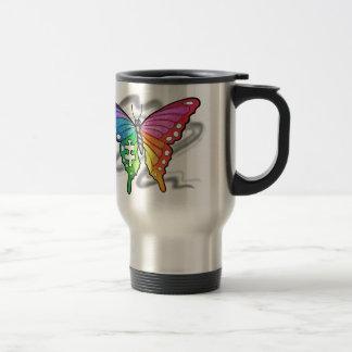 Regenbogen-Schmetterling Reisebecher