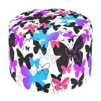 Regenbogen-Schmetterlings-abstrakte mehrfarbige Hocker