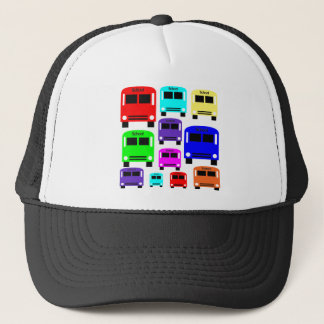 Regenbogen-Schulbusse Truckerkappe