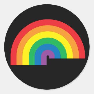 Regenbogen-schwarzer Aufkleber