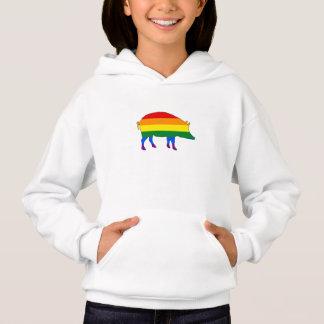 Regenbogen-Schwein Hoodie