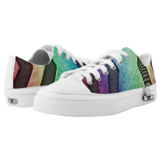 Regenbogen-Sciencefiction-Entwurfs-niedrige Niedrig-geschnittene Sneaker