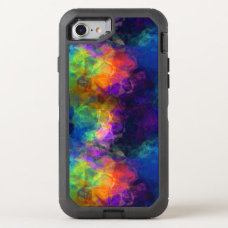 Regenbogen-Seidenpapier-bunte Collage OtterBox Defender iPhone 8/7 Hülle