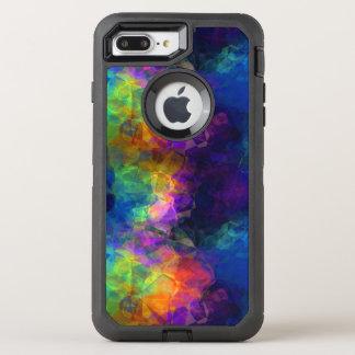 Regenbogen-Seidenpapier-bunte Collage OtterBox Defender iPhone 8 Plus/7 Plus Hülle