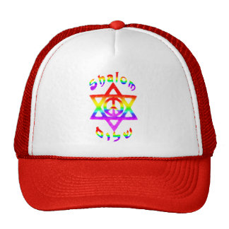 Regenbogen Shalom Hüte Netzcap