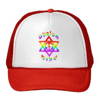 Regenbogen Shalom Hüte Trucker Kappe